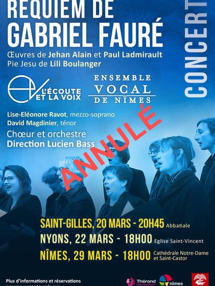 Concerts 2020 - Musique sacrée française XIXe et début XXe siècles