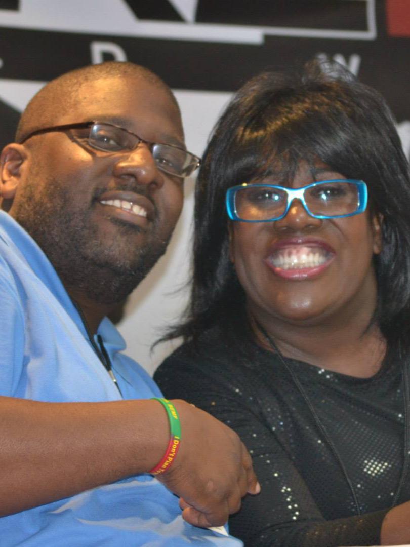 Bigg B and Sheryl Underwood on the Radio Panel in Miami Beach