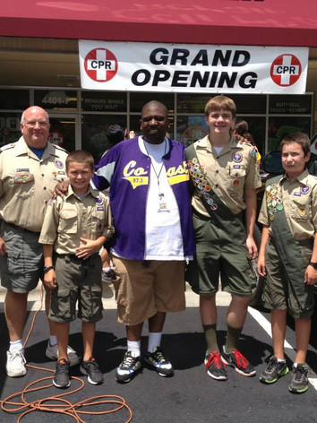 B and the Boy Scouts