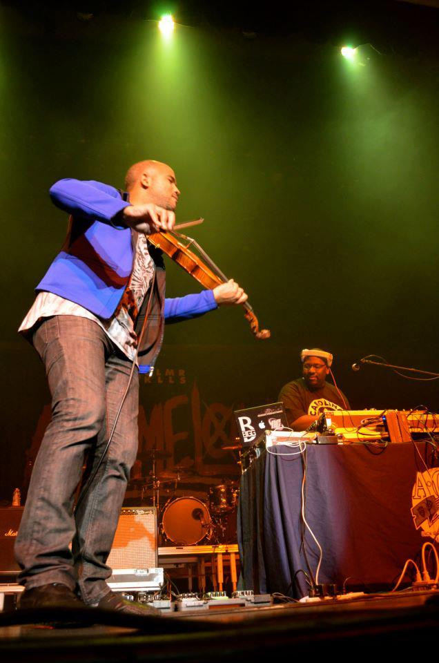 Daniel Bernard Roumain aka DBR the Hip Hop Violinist and Conductor with Bigg B Live on Stage