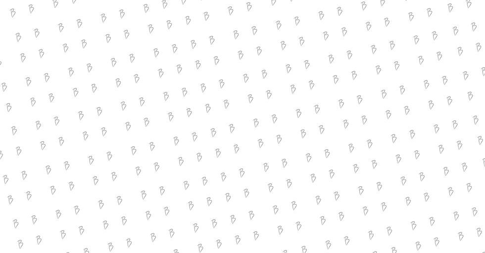 Fundo branco com varias letras B em preto