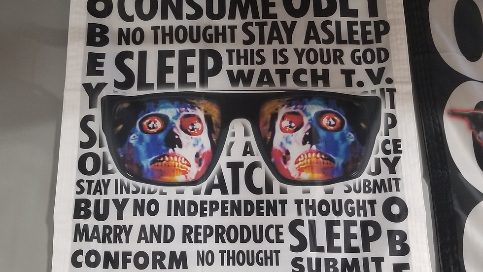 THEY LIVE CONSUME SLEEP OBEY BANNER