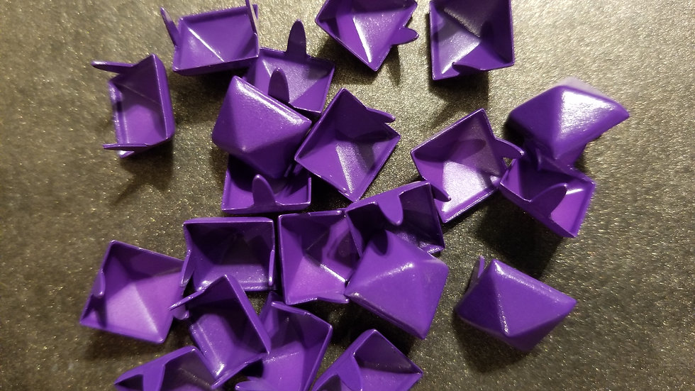 PURPLE STANDARD SIZE (1/2 inch) PYRAMID STUD 20 PACK