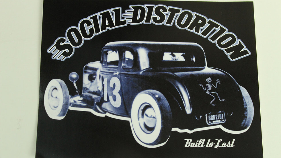 SOCIAL DISTORTION BUILT TO LAST STICKER