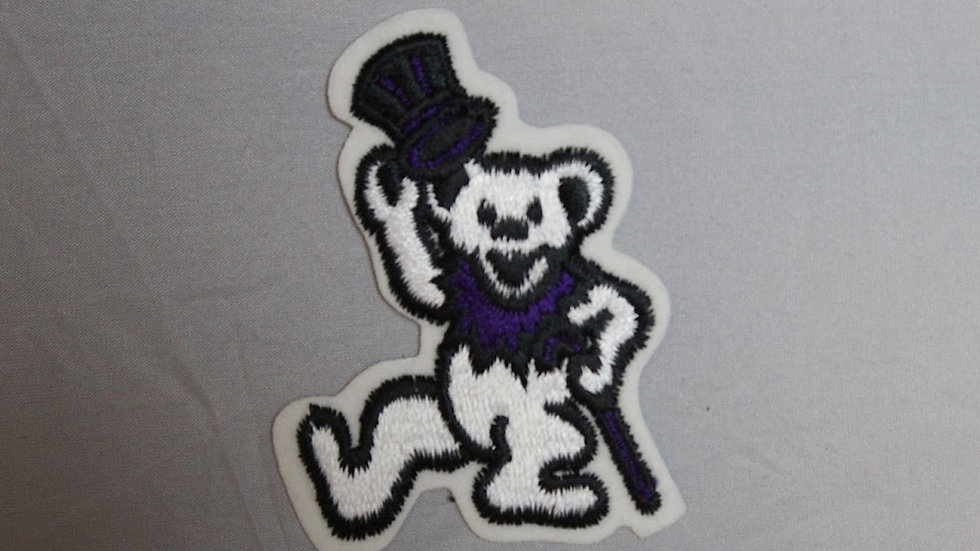 GRATEFUL DEAD WHITE DANCING BEAR PATCH
