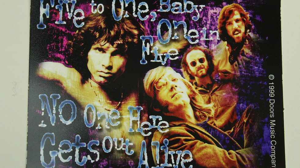 THE DOORS FIVE TO ONE STICKER