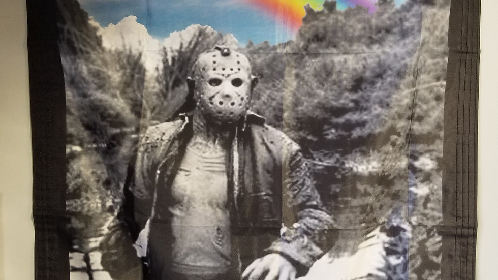 FRIDAY THE 13TH JASON VOORHEES MURDER HAPPY CAMP BANNER