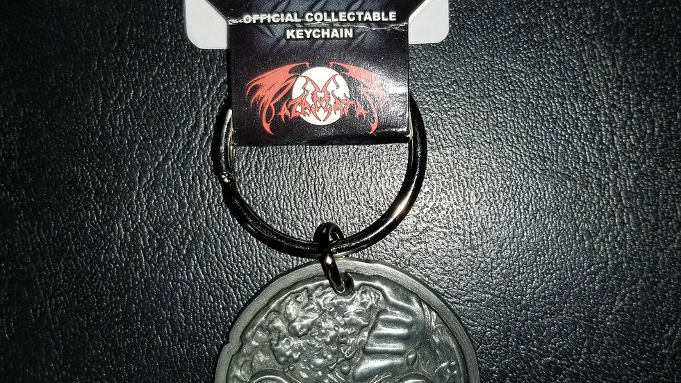 IRON MAIDEN FINAL FRONTIER FACE METAL KEYCHAIN