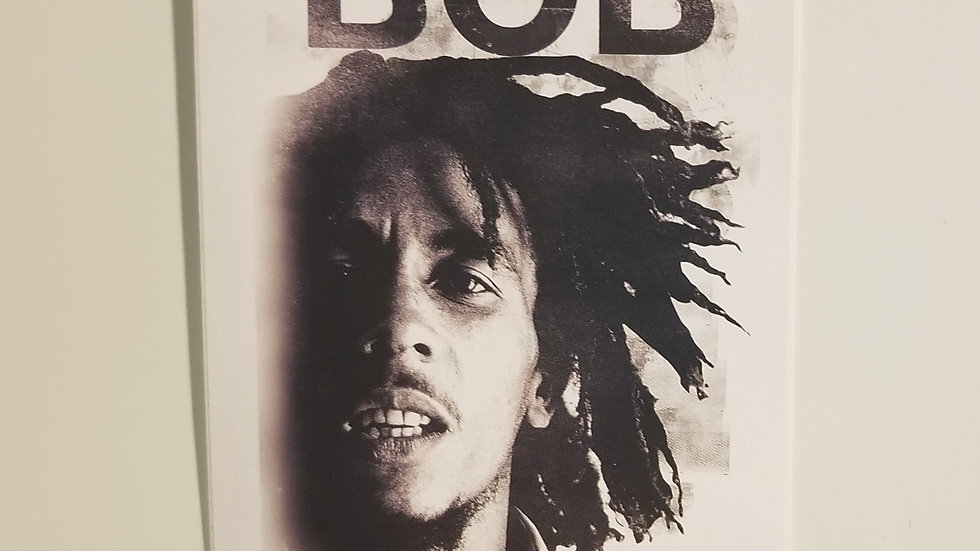 BOB MARLEY DREADS VINYL STICKER