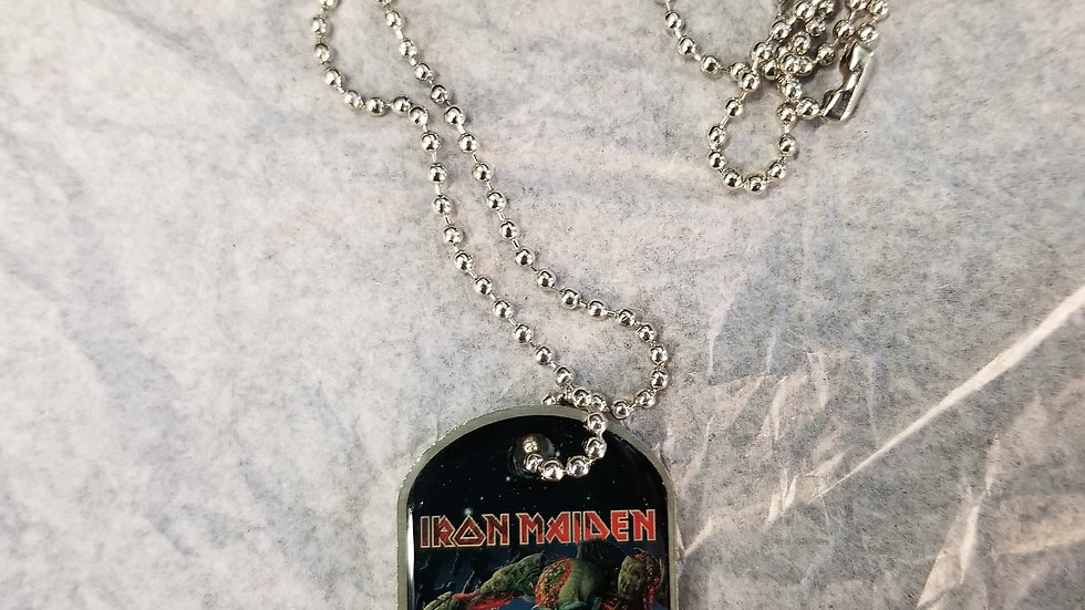 IRON MAIDEN FINAL FRONTIER DOG TAG NECKLACE