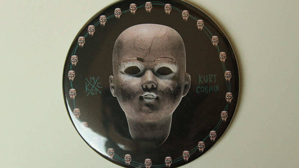 NIRVANA KURT DOLL HEAD MAGNET