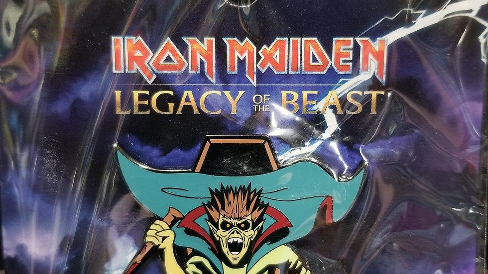 "Iron Maiden Legacy of the Beast ""Vampire Hunter"" enamel pin"