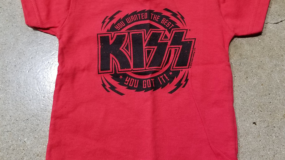 KISS YOU WANTED THE BEST KIDS TEE