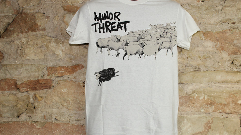 MINOR THREAT BLACK SHEEP ON WHITE TEE