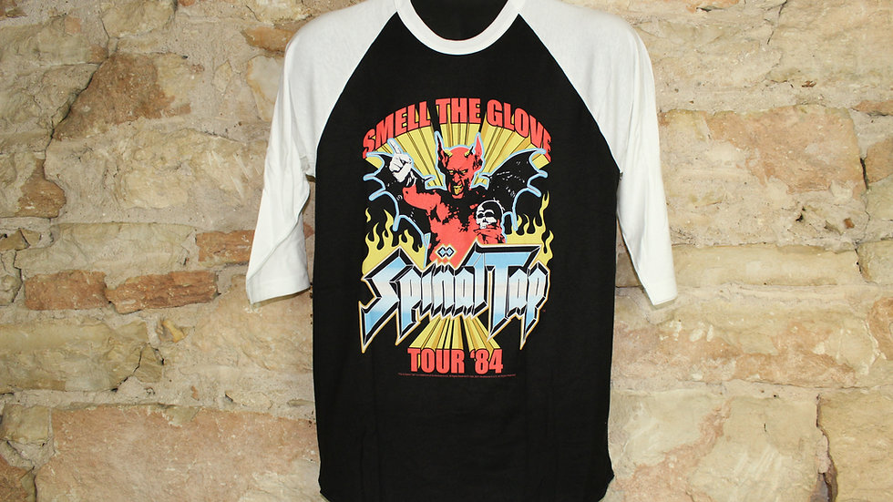 SPINAL TAP SMELL THE GLOVE BASEBALL TEE