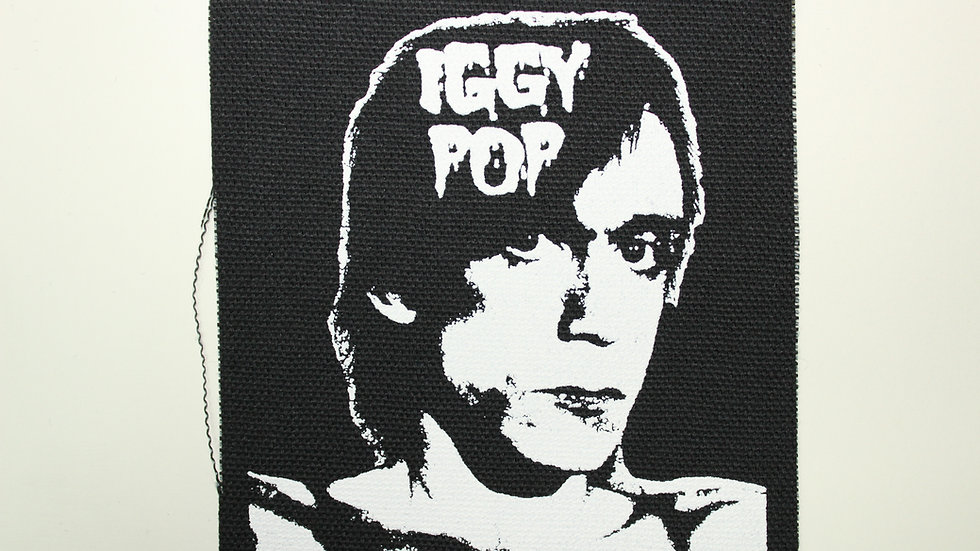 IGGY POP SCREENPRINTED PATCH