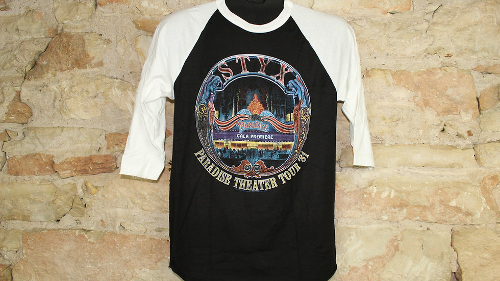 STYX PARADISE THEATER TOUR '81 BASEBALL TEE