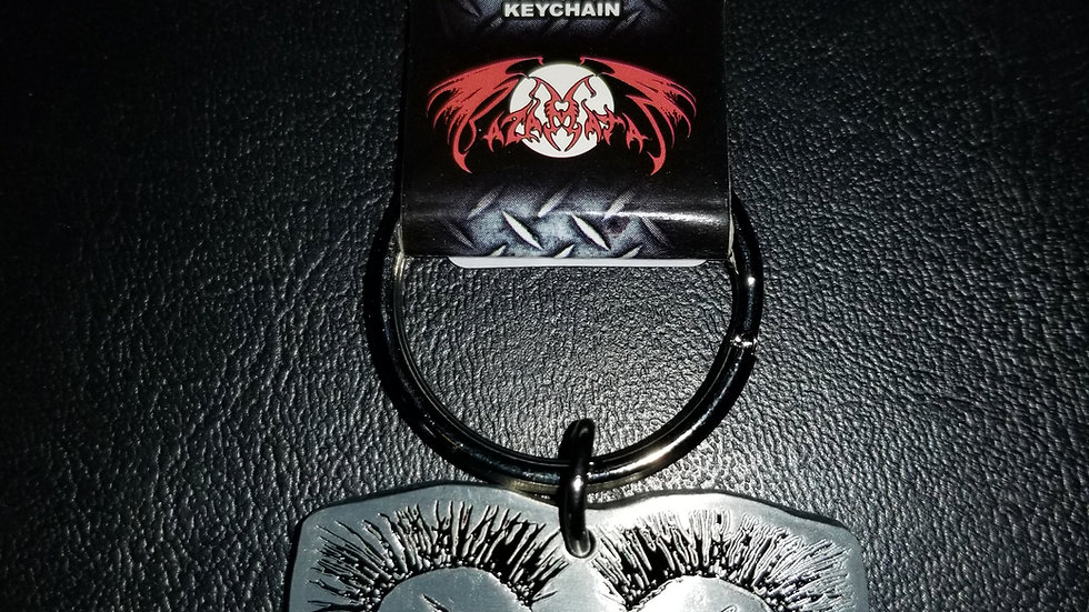 EXPLOITED METAL KEYCHAIN
