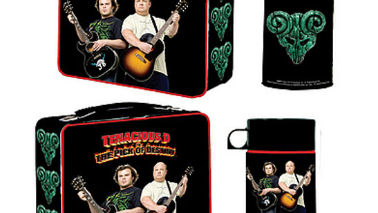 Tenacious D lunchbox with drink container