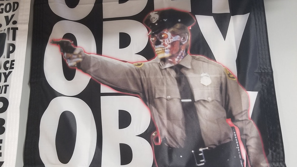 THEY LIVE OBEY OBEY OBEY BANNER