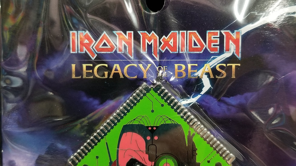 "Iron Maiden Legacy of the Beast ""Cyborg"" enamel pin"
