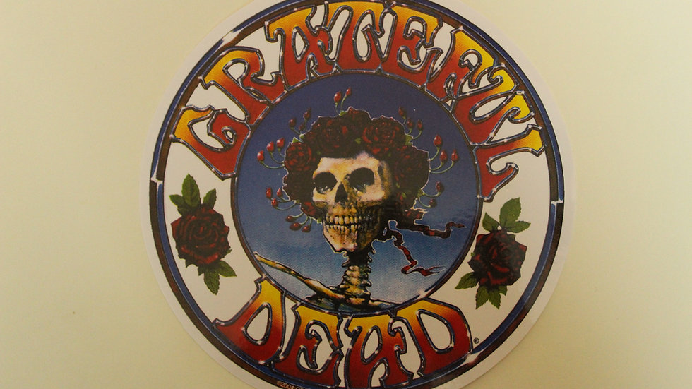 GRATEFUL DEAD SKELETON AND ROSES STICKER