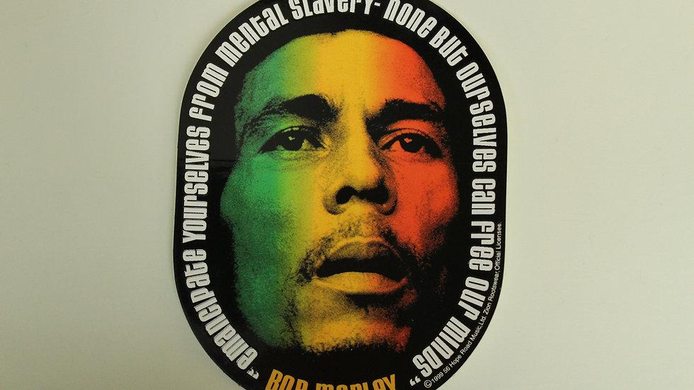 BOB MARLEY MENTAL SLAVERY STICKER