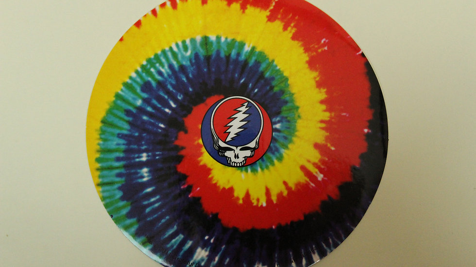 GRATEFUL DEAD SPIRAL TYE DYE STICKER