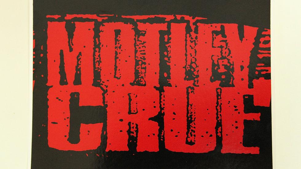 MOTLEY CRUE RED ON BLACK STICKER
