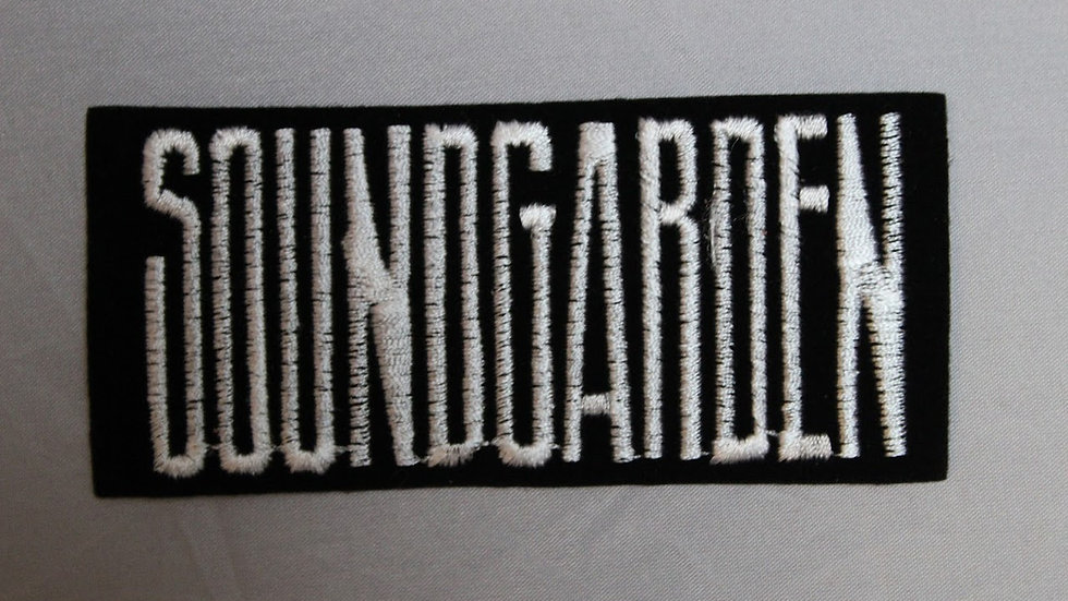SOUNDGARDEN WHITE LOGO PATCH