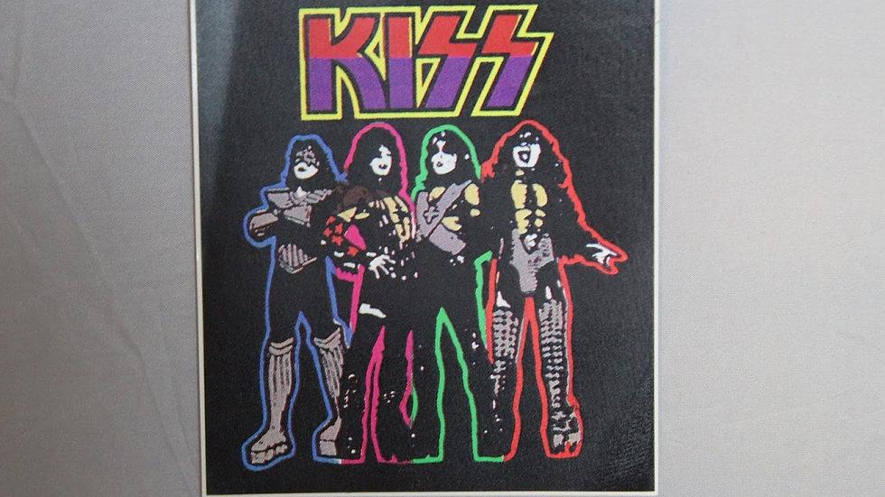 KISS ON BLACK STICKER