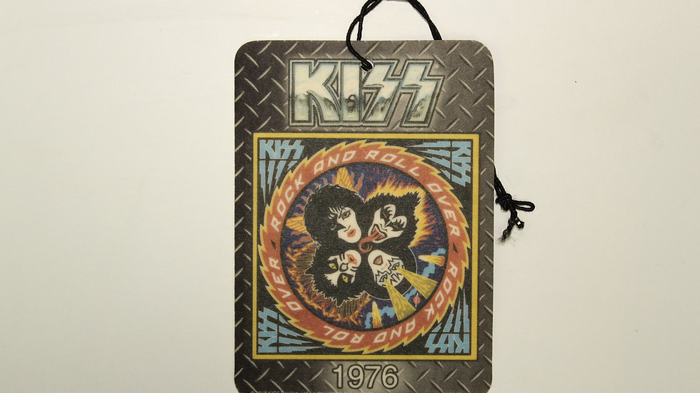 KISS 1976 ROCK AND ROLL OVER AIR FRESHENER