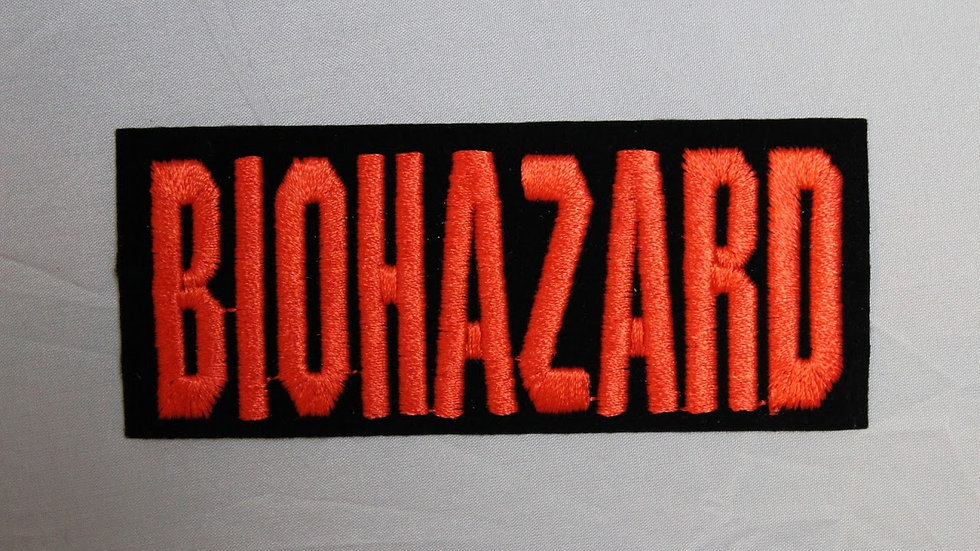 BIOHAZARD ORANGE LOGO PATCH