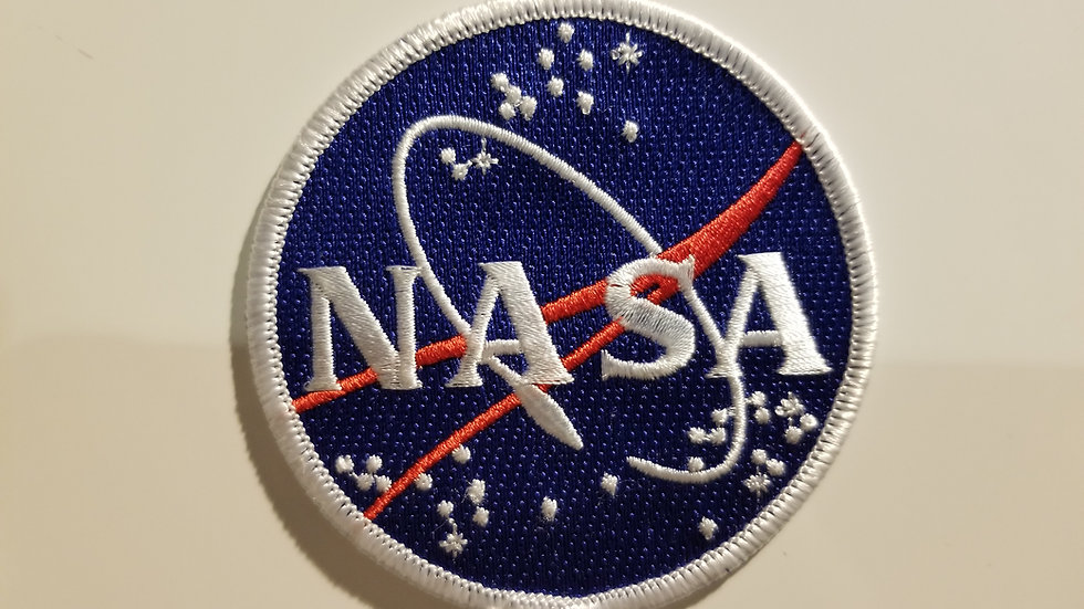 NASA EMBROIDERED IRON ON PATCH