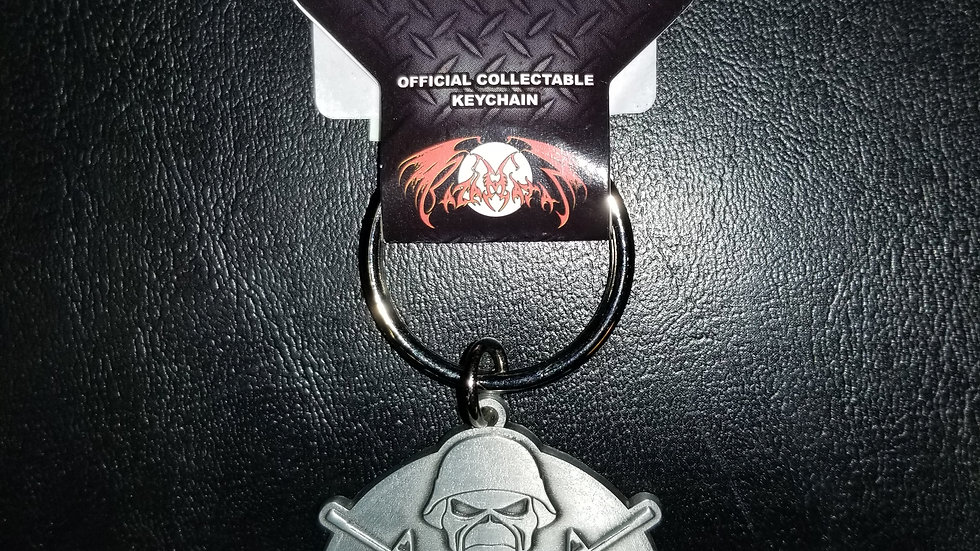 IRON MAIDEN A MATTER OF LIFE AND DEATH METAL KEYCHAIN