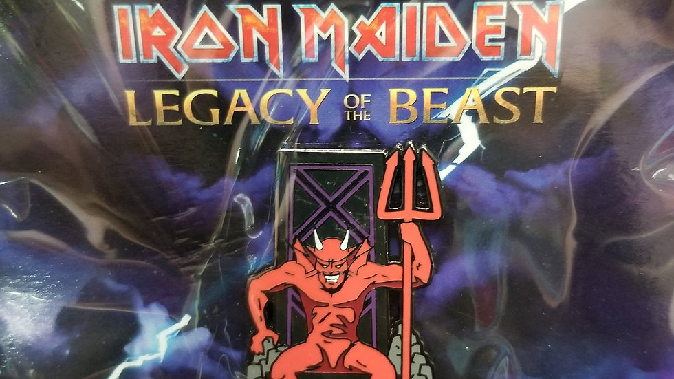 "Iron Maiden Legacy of the Beast ""The Beast"" enamel pin"