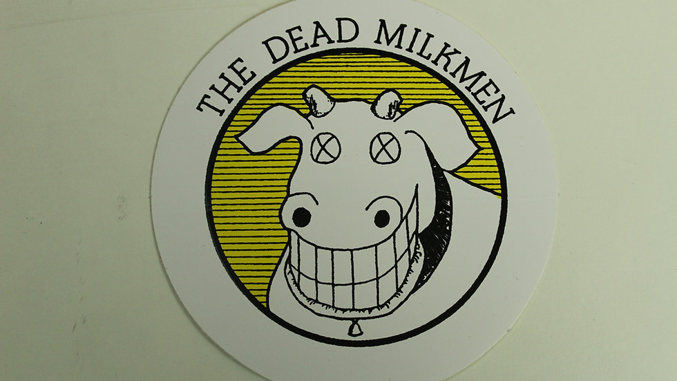 THE DEAD MILKMAN COW STICKER