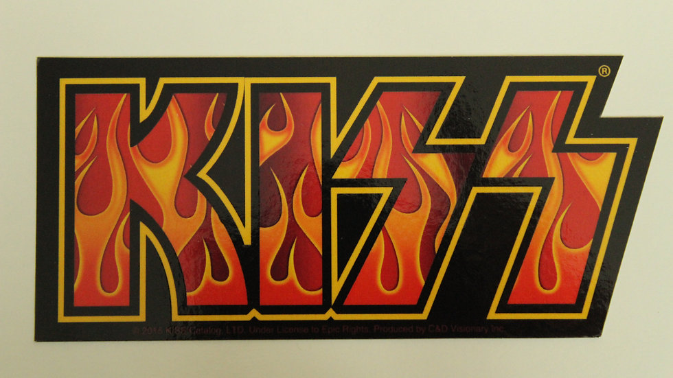 KISS FLAME LOGO DIE-CUT STICKER