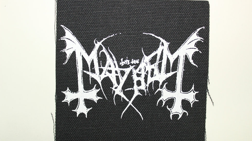 MAYHEM SCREENPRINTED PATCH