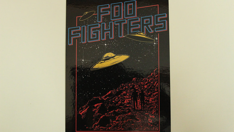 FOO FIGHTERS UFOS STICKER