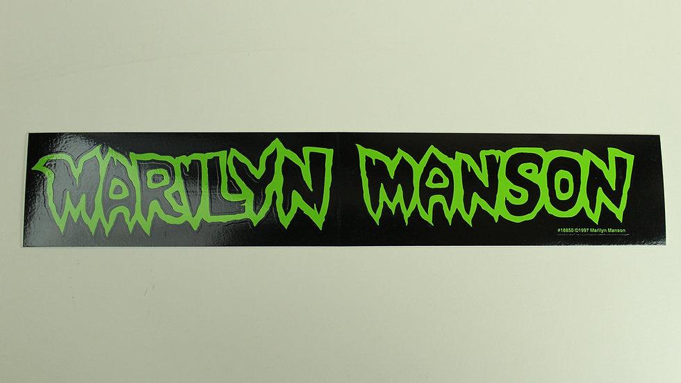 MARILYN MANSON GREEN LOGO STICKER