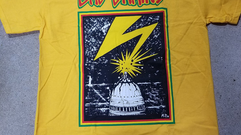 BAD BRAINS CAPITOL YELLOW TEE