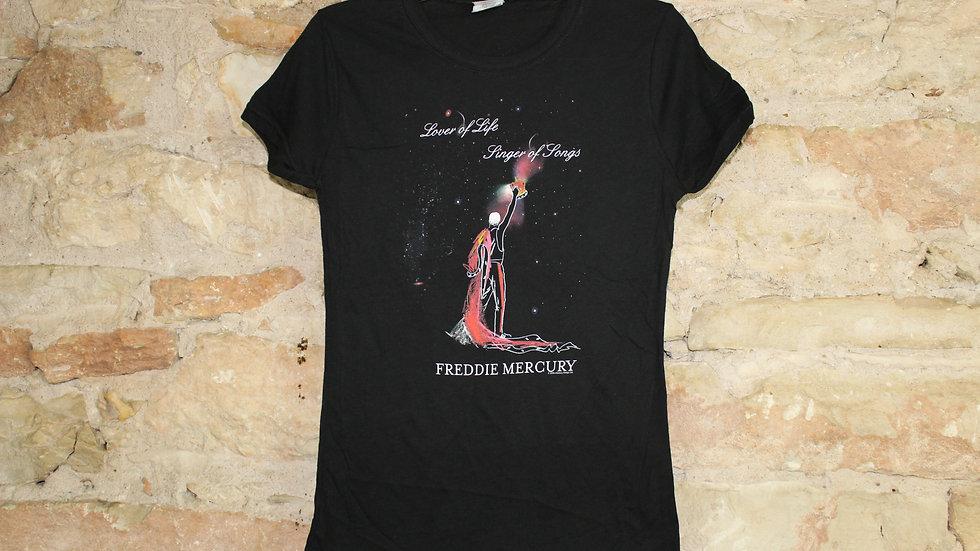FREDDIE MERCURY LOVER OF LIFE LADIES TEE