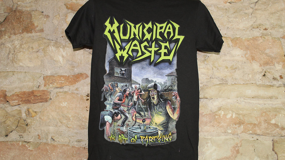 MUNICIPAL WASTE THE ART OF PARTYING TEE