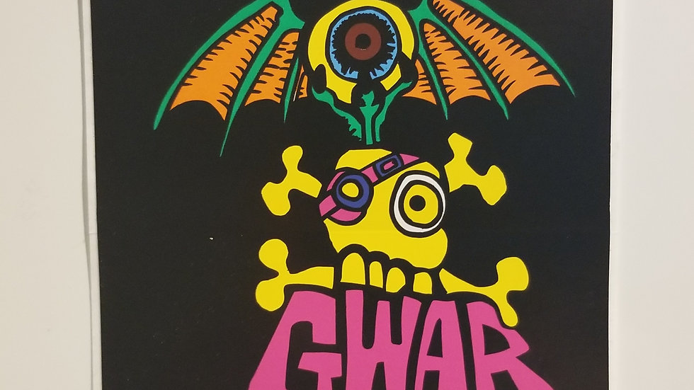 GWAR CARTOON VINYL STICKER