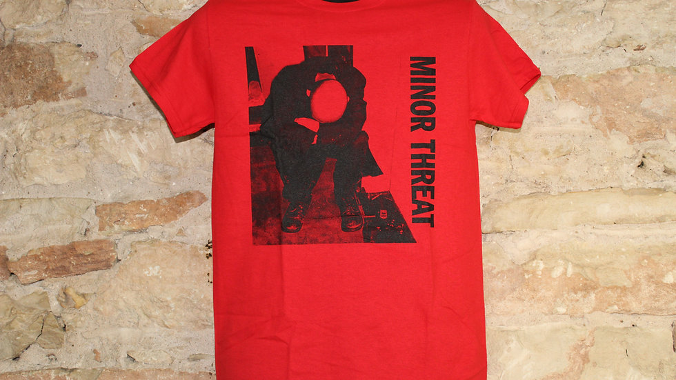 MINOR THREAT SELF TITLED ON RED TEE