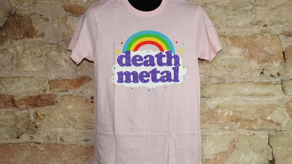 DEATH METAL RAINBOW PINK TEE