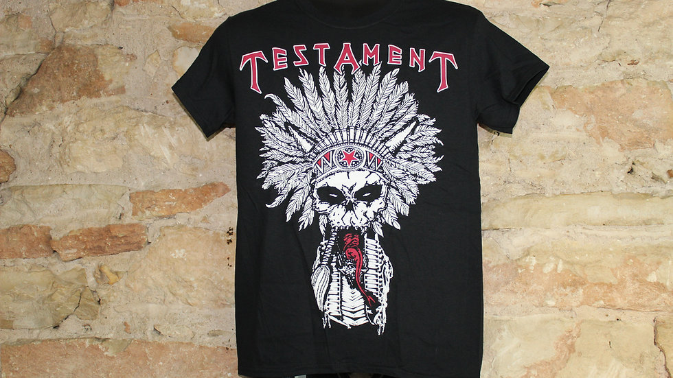 TESTAMENT NATIVE SKULL TEE