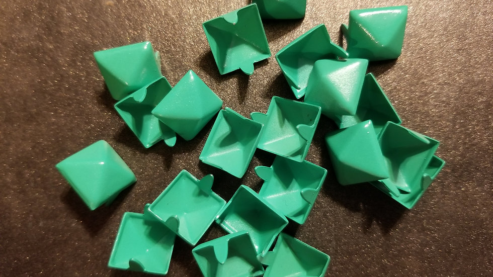 BRIGHT GREEN STANDARD SIZE (1/2 inch) PYRAMID STUDS 20 PACK