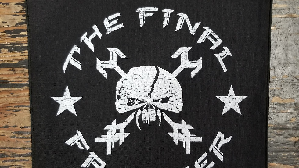 IRON MAIDEN FINAL FRONTIER LOGO BACKPATCH